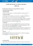 Hướng dẫn giải bài 1,2,3 trang 19 SGK Sinh học 7