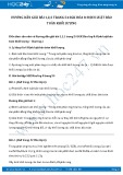 Hướng dẫn giải bài 1,2,3 trang 54 SGK Hóa 8