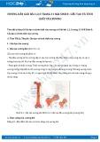 Hướng dẫn giải bài 1,2,3 trang 31 SGK Sinh 8