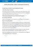 Hướng dẫn giải bài 1 trang 136 SGK Sinh 8