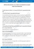 Hướng dẫn giải bài 1,2,3,4 trang 165 SGK Sinh 8