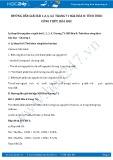 Hướng dẫn giải bài 1,2,3,4,5 trang 71 SGK Hóa 8