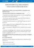 Hướng dẫn giải bài 1,2,3,4,5 trang 45 SGK Sinh học 12