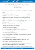 Hướng dẫn giải bài 1,2,3,4 trang 72 SGK Hóa học 12