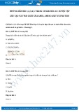 Hướng dẫn giải bài 1,2,3,4,5 trang 58 SGK Hóa học 12