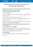 Hướng dẫn giải bài 1,2 trang 7 SGK Đại số 7 tập 2