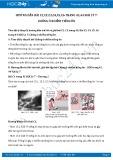 Hướng dẫn giải bài C1,C2 trang 43 SGK Vật lý 7