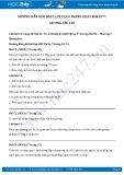 Hướng dẫn giải bài C1 trang 20 SGK Vật lý 7