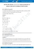 Hướng dẫn giải bài 1,2,3,4,5,6,7 trang 106 SGK Hóa 10