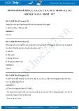 Hướng dẫn giải bài 1,2,3,4,5,6,7,8,9,10,11 trang 113,114 SGK Hóa 10
