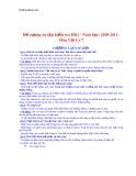 Đề cương ôn tập kiểm tra học kì 1 môn Vật lý 7 năm 2010-2011