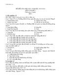 Đề kiểm tra 1 tiết môn Lịch sử lớp 7 năm 2010-2011