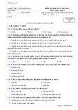 Đề kiểm tra học kì 1 môn Vật lý 7 năm 2012-2013 - Trường THCS Tân Phước Khánh