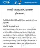 Hướng dẫn giải bài 1,2,3 trang 142 SGK Sinh học 9