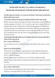 Hướng dẫn giải bài 1,2,3,4 trang 129 SGK Sinh học 9
