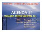 Bài thuyết trình Agenda 21 (Chương trình nghị sự 21)