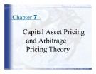 Essentials of Investments: Chapter 7 - Capital Asset Pricing and Arbitrage Pricing Theory