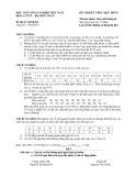 Đề thi kết thúc học phần Xác suất thống kê năm 2016 (Đề thi số XSTK-02)