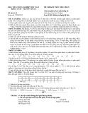Đề thi kết thúc học phần Xác suất thống kê năm 2015 (Đề thi số 01)