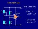 Bài thuyết trình: Lắp ráp mạch tự mở đèn khi trời tối