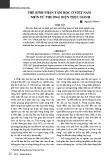 Nghiên cứu khoa học: Phê bình phân tâm học ở Việt Nam - Nhìn từ phương diện thực hành