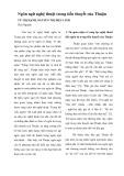 Ngôn ngữ nghệ thuật trong tiểu thuyết của Thuận