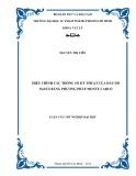 Luận văn tốt nghiệp đại học: Hiệu chỉnh các thông số kỹ thuật của đầu dò NaI(Tl) bằng phương pháp monte carlo