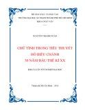 Khóa luận tốt nghiệp đại học: Chữ tình trong tiểu thuyết Hồ Biểu Chánh 30 năm đầu thế kỉ XX