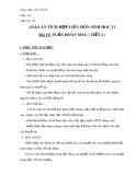 Giáo án tích hợp liên môn Sinh học 11 - Bài 19: Tuần hoàn máu (Tiết 2)