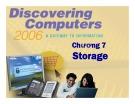 Bài giảng Khám phá máy tính - Chương 7: Storage