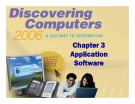 Discovering Computers - Chapter 3: Application Software