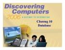 Bài giảng Khám phá máy tính - Chương 10: Database