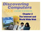 Discovering Computers - Chapter 2: The Internet and World Wide Web