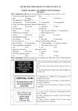 Đề thi thử tiếng Anh trình độ B1 của khung châu Âu (Đề số 03)