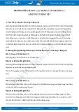 Hướng dẫn giải bài 1,2,3 trang 110 SGK Sinh 11