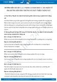 Hướng dẫn giải bài 1,2,3 trang 154 SGK Sinh 11