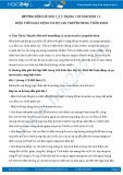 Hướng dẫn giải bài 1,2,3 trang 120 SGK Sinh 11