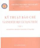 Ebook Kỹ thuật bào chế và sinh dược học các loại thuốc (Tập 1): Phần 2