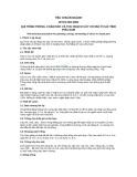 Tiêu chuẩn ngành 10 TCN 481:2001