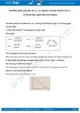 Hướng dẫn giải bài 10,11,12 trang 76 SGK Hình học 9 tập 1