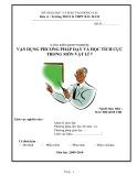 Sáng kiến kinh nghiệm: Vận dụng phương pháp dạy và học tích cực trong môn Vật lý 7
