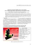 Tính toán một số thông số của máy khấu dùng trong khai thác than hầm lò vùng Quảng Ninh