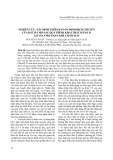 Nghiên cứu, xác định thời gian ổn định dịch chuyển của đất đá mỏ sau quá trình khai thác hầm lò tại vỉa 9 mỏ than Khe Chàm II-IV