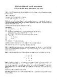 Đề thi Phân tích và thiết kế thuật toán