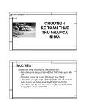 Bài giảng Chương 4: Kế toán thuế thu nhập cá nhân - ĐH Mở TP.HCM