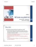 Bài giảng Kế toán tài chính 1 - Chương 5:  Kế toán nợ phải trả (Phần 2)