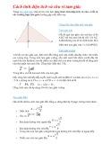 Cách tính diện tích và chu vi tam giác