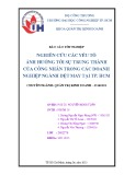 Báo cáo tốt nghiệp: Nghiên cứu các yếu tố ảnh hưởng tới lòng trung thành của công nhân ngành dệt may tại TP.HCM