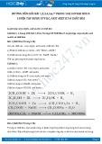 Giải bài tập Luyện tập rượu etylic; axit axetic và chất béo SGK Hóa học 9