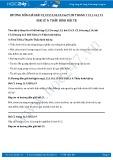 Giải bài tập Thấu kính hội tụ SGK Vật lý 9
